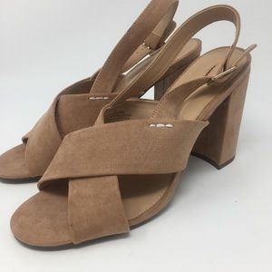NWOT Who What Wear Pink Suede Sandal